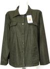 Katana damska bluza zielona w jodełkę (828) NEISON
